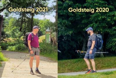 Stefan auf dem Goldsteig 2021 und 2020